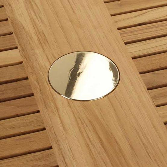 Brass Parasol Hole Cap