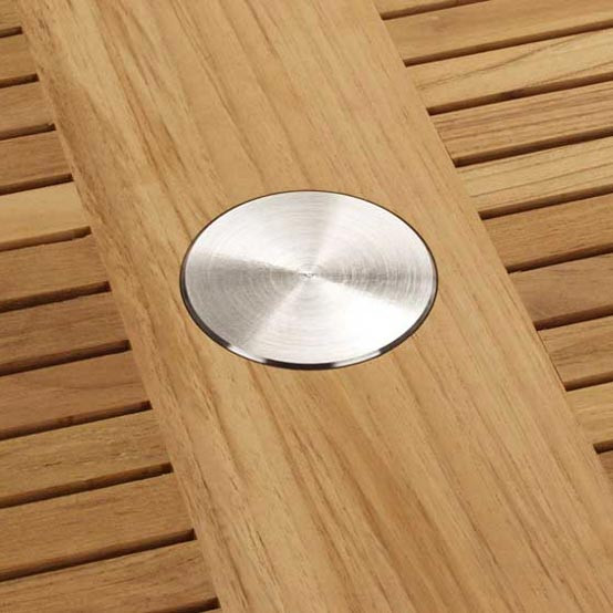 Stainless Steel Parasol Hole Cap
