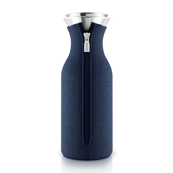 Fridge Carafe With Woven Cover in Navy Blue