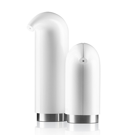 Soap And Lotion Dispenser Set in White