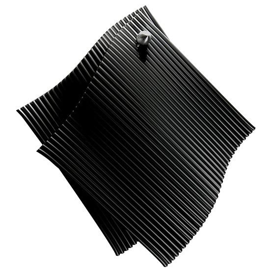 2pc Potholder Set with Hook in Black