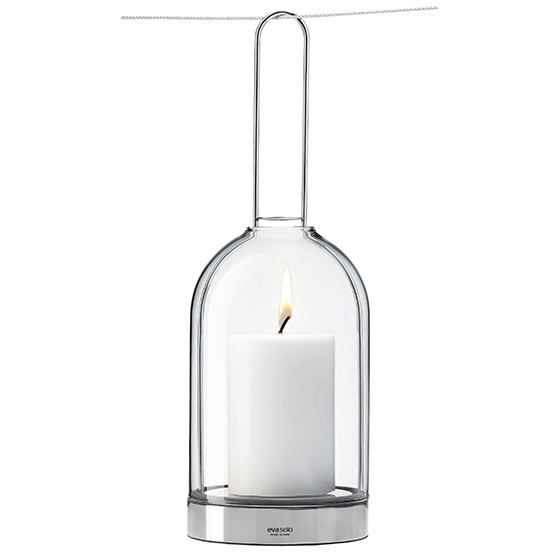 Hurricane Lamp with Hanging Handle