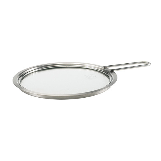 6.5 inch Stainless Steel and Glass Lid