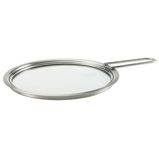 8 inch Stainless Steel and Glass Lid