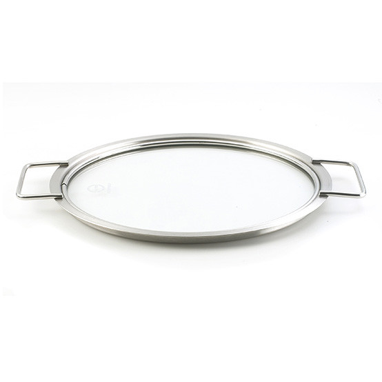 9.5 inch Stainless Steel and Glass Lid