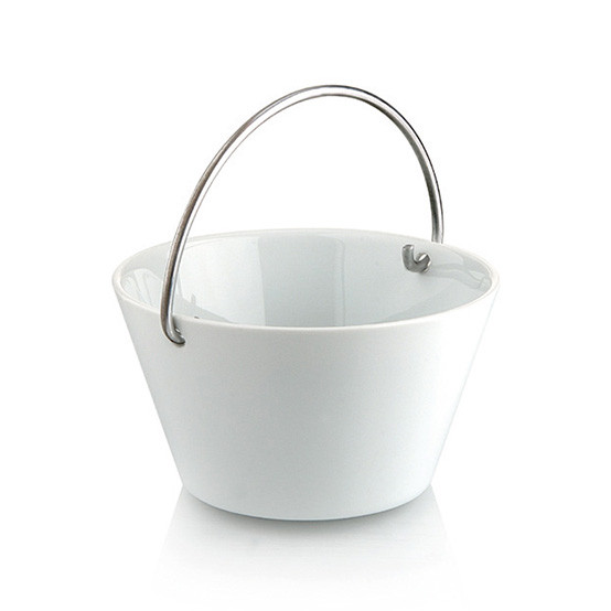 0.5L Bowl With Handle in White