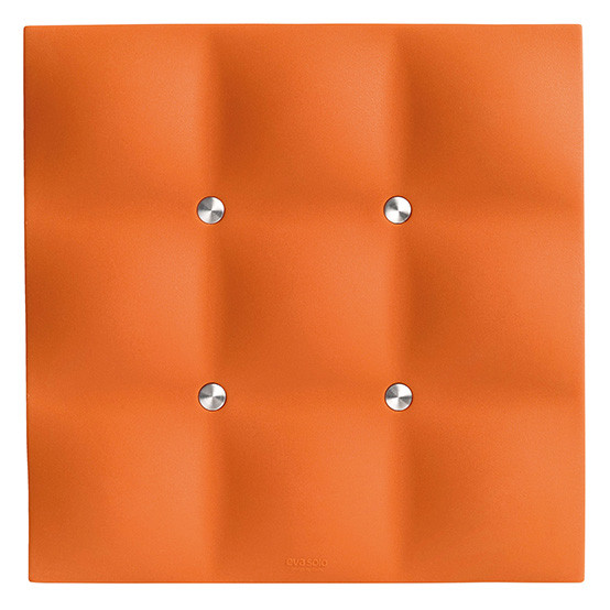 Quilted Trivet in Juicy Orange