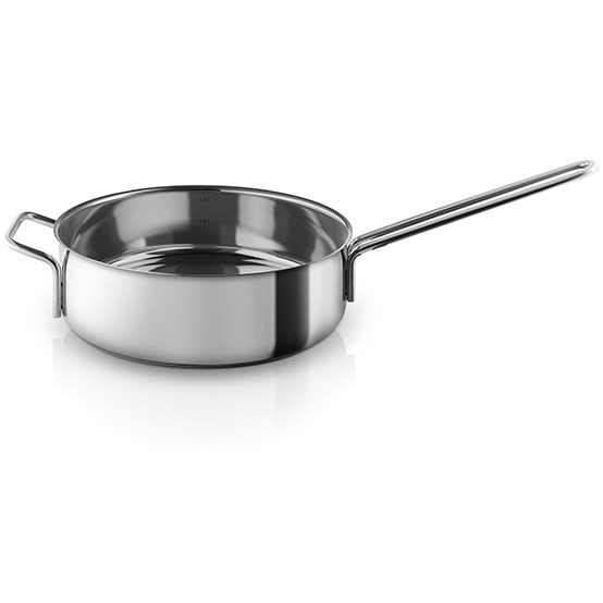 Stainless Steel Saut_ pan with Handle