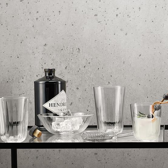 4 pc Set of Facet Glass Bowls