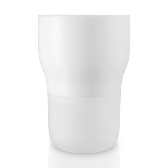 Medium Curvy Pot in Chalk White