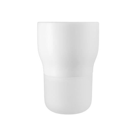 Small Curvy Pot in Chalk White