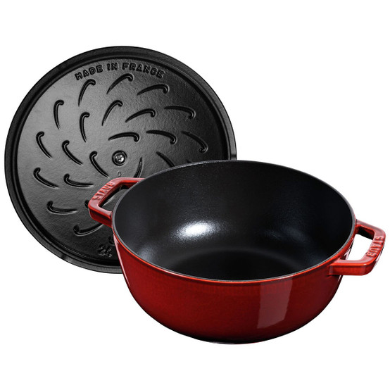 3.75 qt French Oven with Rooster Lid in Grenadine