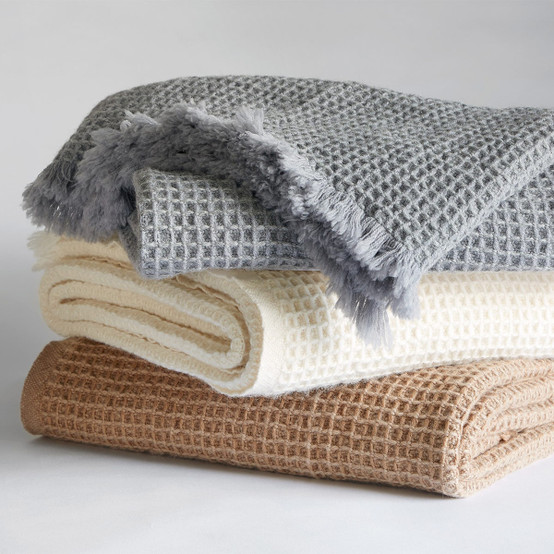 Searsport Wool Throw in Natural