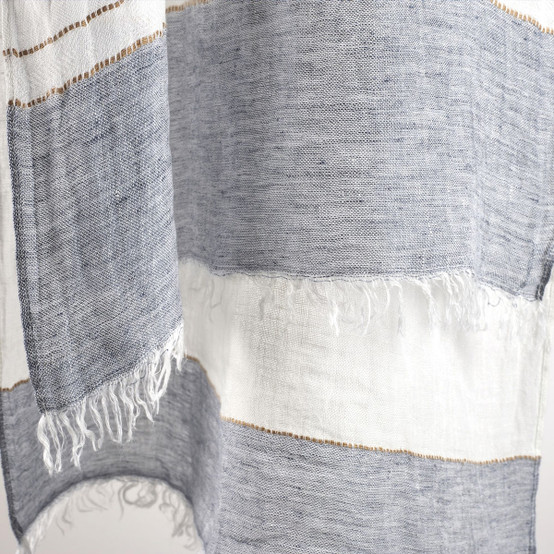 Sandettie Shawl in Bastion Stripe