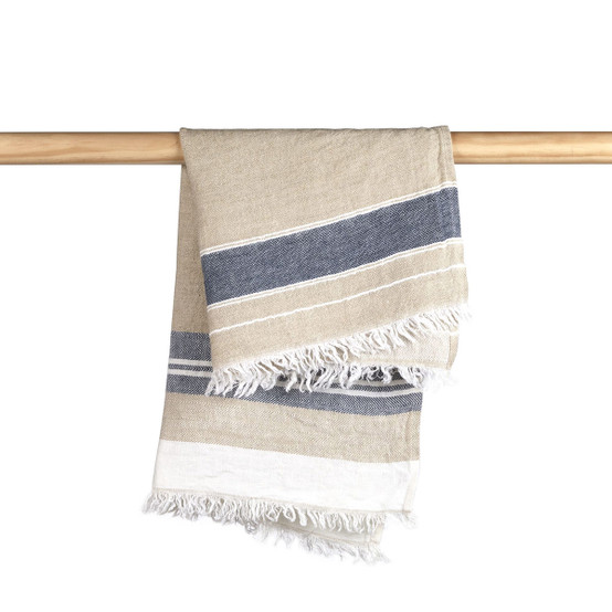 The Belgian Towel Small Fouta in Bastion Stripe