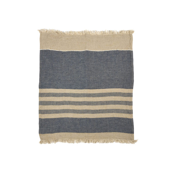 The Belgian Towel Small Fouta in Sea Stripe