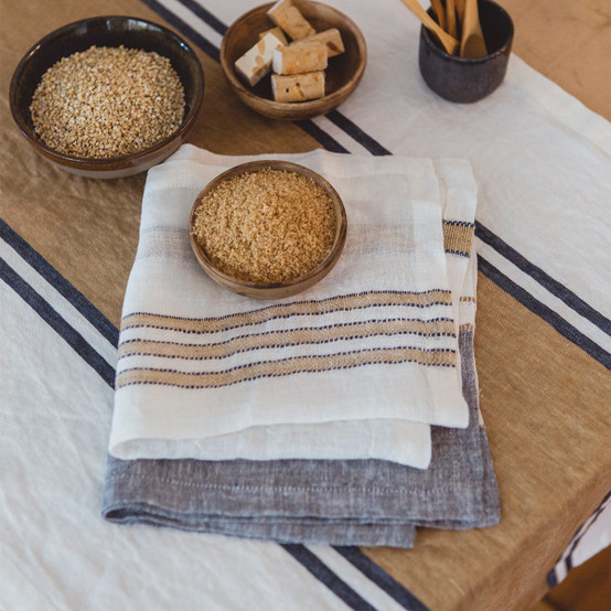Norfolk Banks Table Runner in Stripe