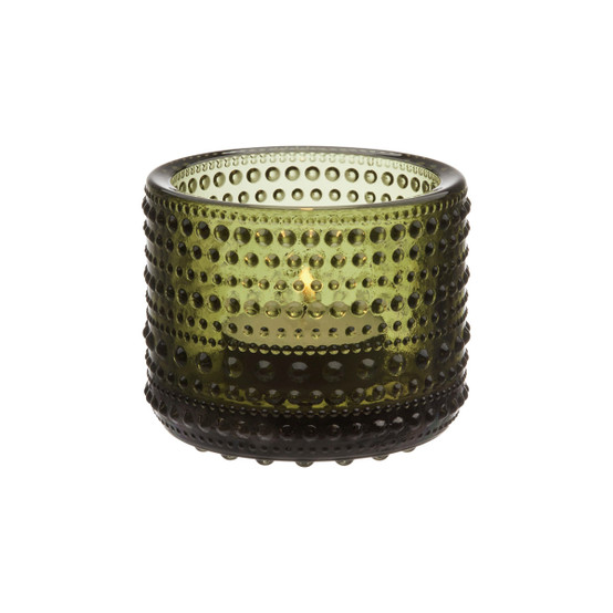 Kastehelmi Tealight Candleholder in Moss Green