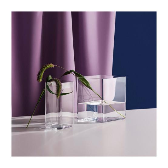 Ruutu 8 inch Vase in Clear