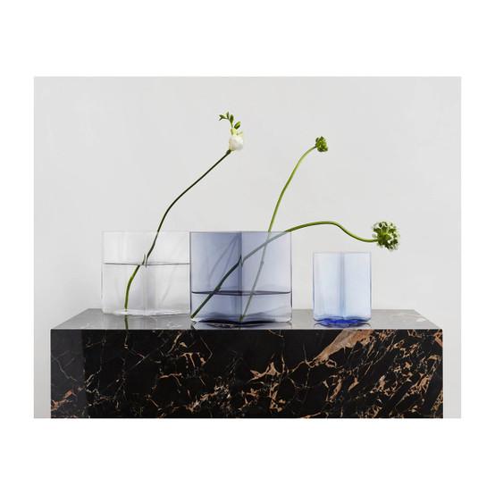 Ruutu 8 inch Vase in Rain