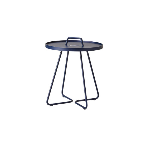On-The-Move Small Side Table in Midnight Blue
