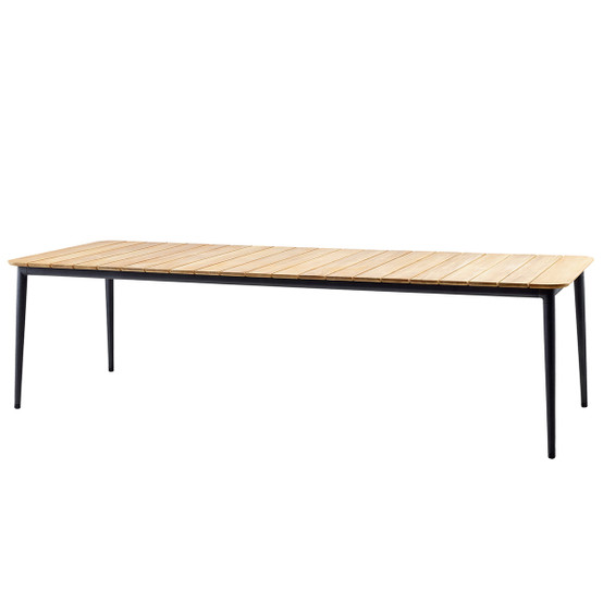 Core 108 Inch Dining Table with Teak Top in Lave Grey