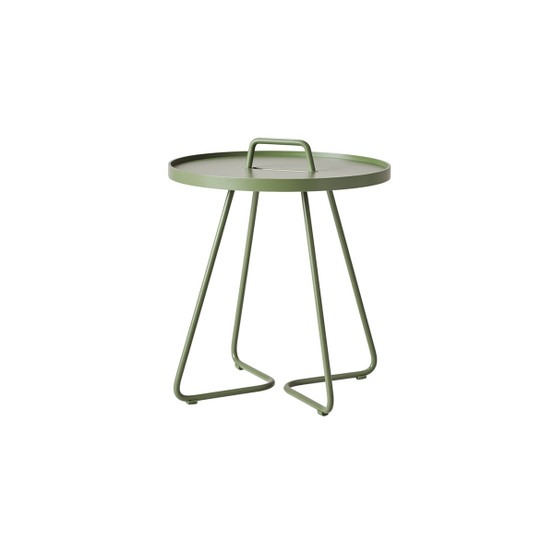 On-The-Move Small Side Table in Olive Green