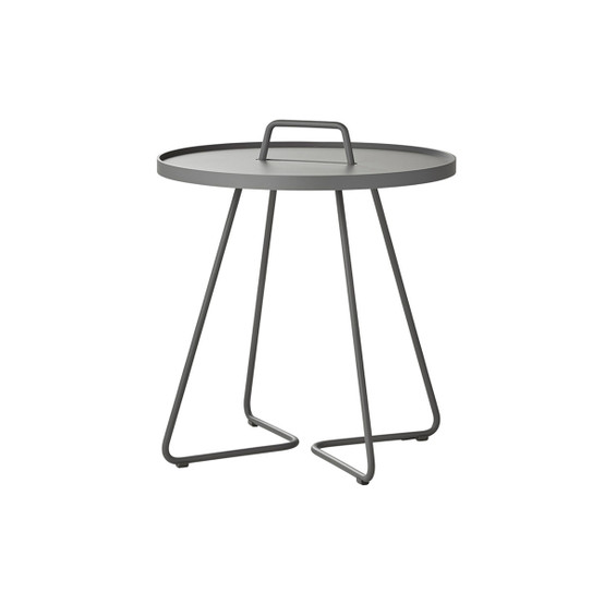 On-The-Move Large Side Table in Light Grey