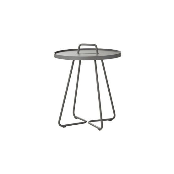 On-The-Move Small Side Table in Light Grey