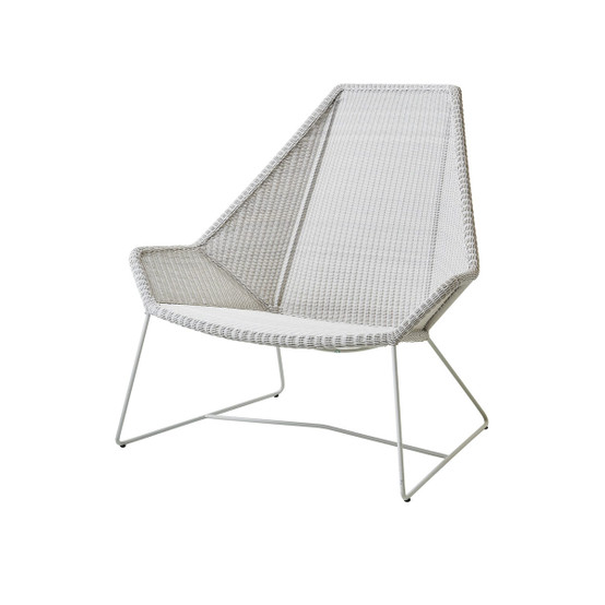 Breeze Highback Chair in White Grey