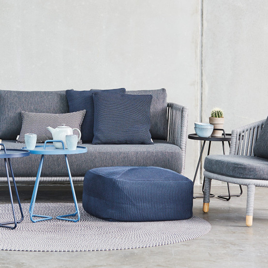 Divine Scatter Cushion in Midnight Blue