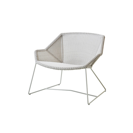 Breeze Lounge Chair in White Grey