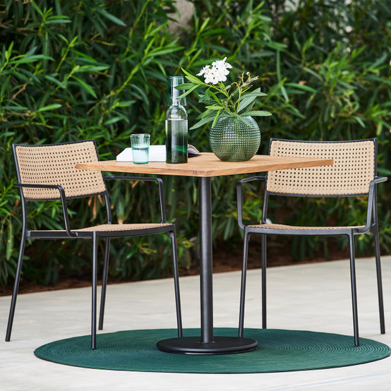 Go Café Table Base in Lava Grey