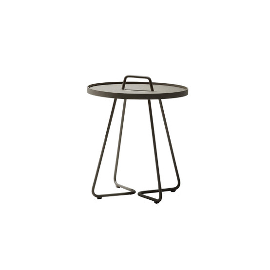 On-The-Move Small Side Table in Taupe