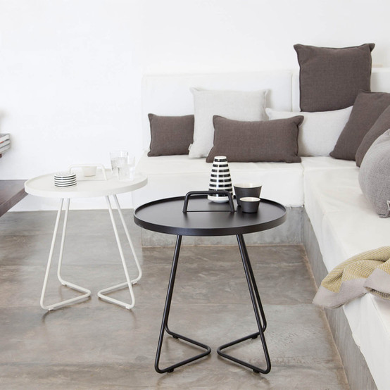 On-The-Move Large Side Table in White