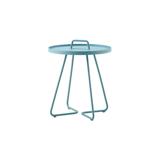 On-The-Move Small Side Table in Aqua