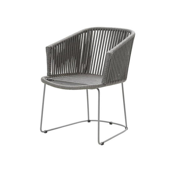 Moments Rope Dining Armchair Chair in Grey