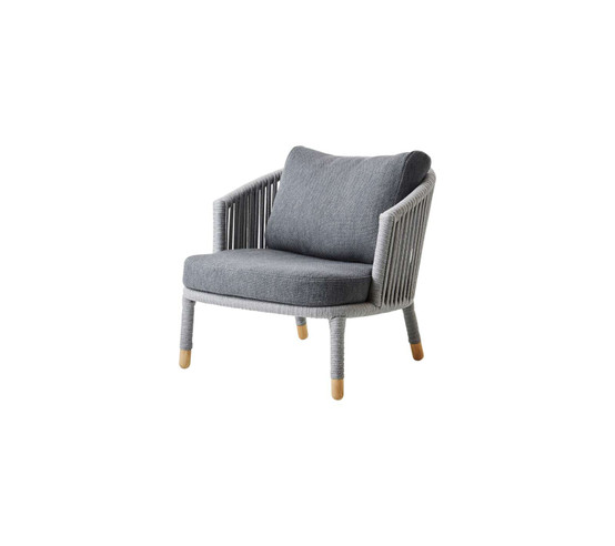 Moments Lounge Chair in Grey with Grey Cushion