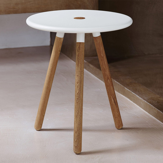 Area Stool in White