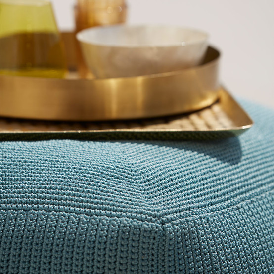 Divine Footstool in Turquoise