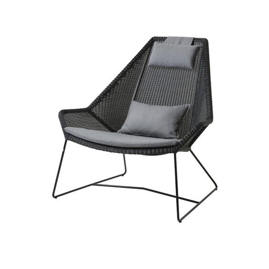 Cushion Set for Breeze Highback Chair in Grey Sunbrella