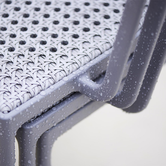 Less Chair with Armrest in Light Grey Weave