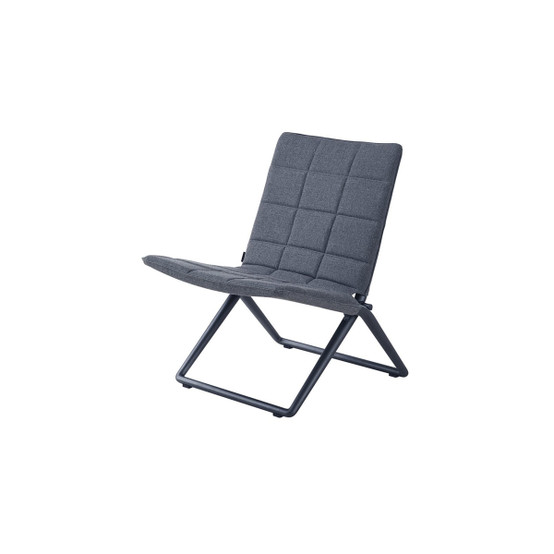 Traveller Folding Lounge Chair in Grey