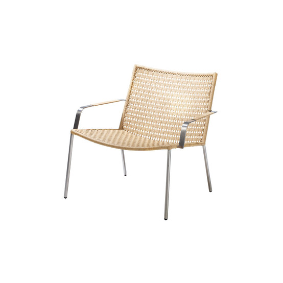 Straw Flat Paper Yarn Lounge Chair in Natural