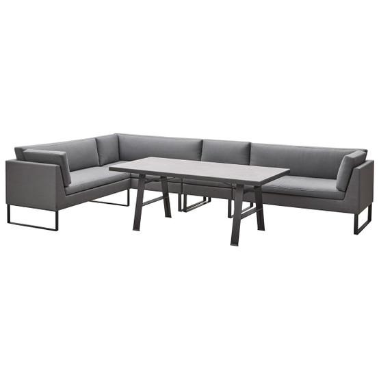 Flex 2 Seater Sofa Left Module in Grey