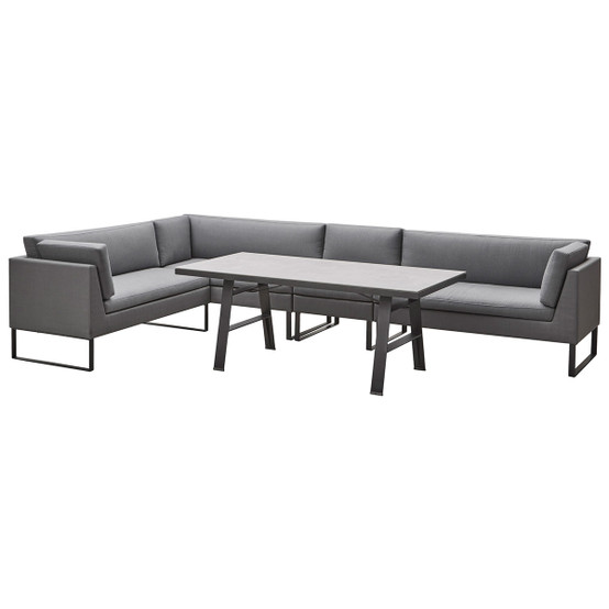 Flex 2 Seater Sofa Right Module in Grey
