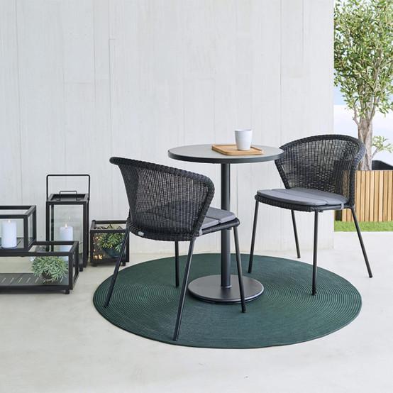Cushion for Lean Chair in Grey Sunbrella