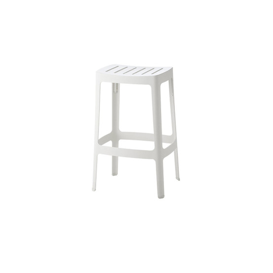 Low Cut Bar Chair in White