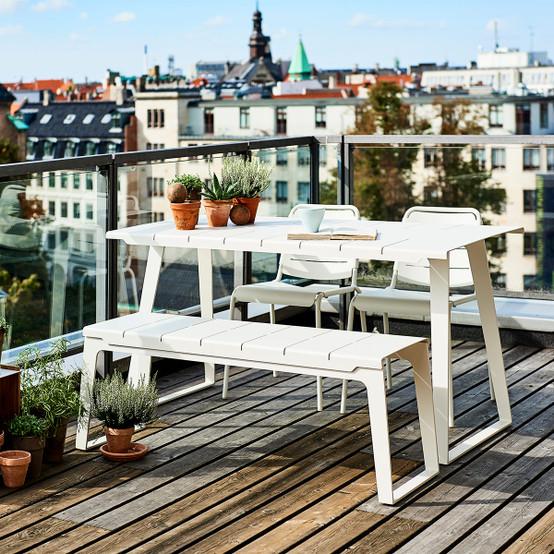 Copenhagen Bench in White