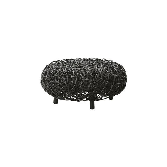Loop Footstool in Black